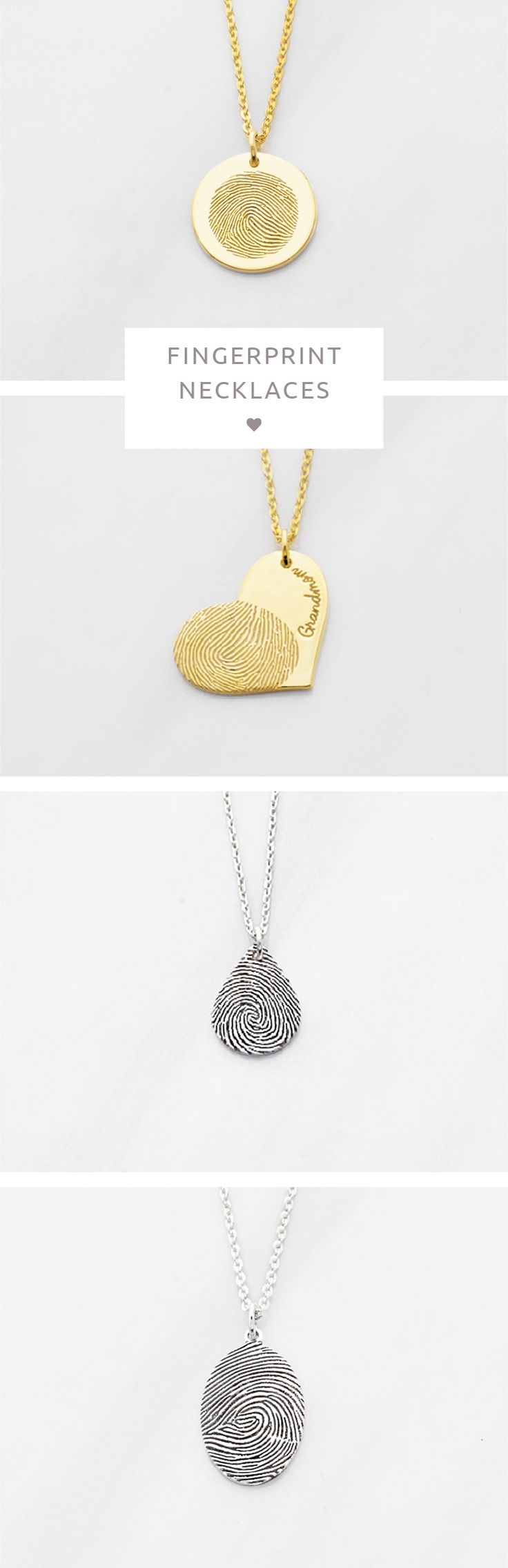 Disc Fingerprint Necklace • Heart Fingerprint Necklace • Heart Thumbprint Necklace • Fingerprint heart necklace • Tear drop fingerprint necklace • Oval Fingerprint Necklace • Custom fingerprint necklace • Thumbprint Necklace • Fingerprint pendant necklace • Memorial Necklace • In Memory Of Necklace • memorial gifts for loss of mother • grieving gifts • in memory gifts • gifts for sympathy • Bereavement Gift • Funeral Memorial Gift