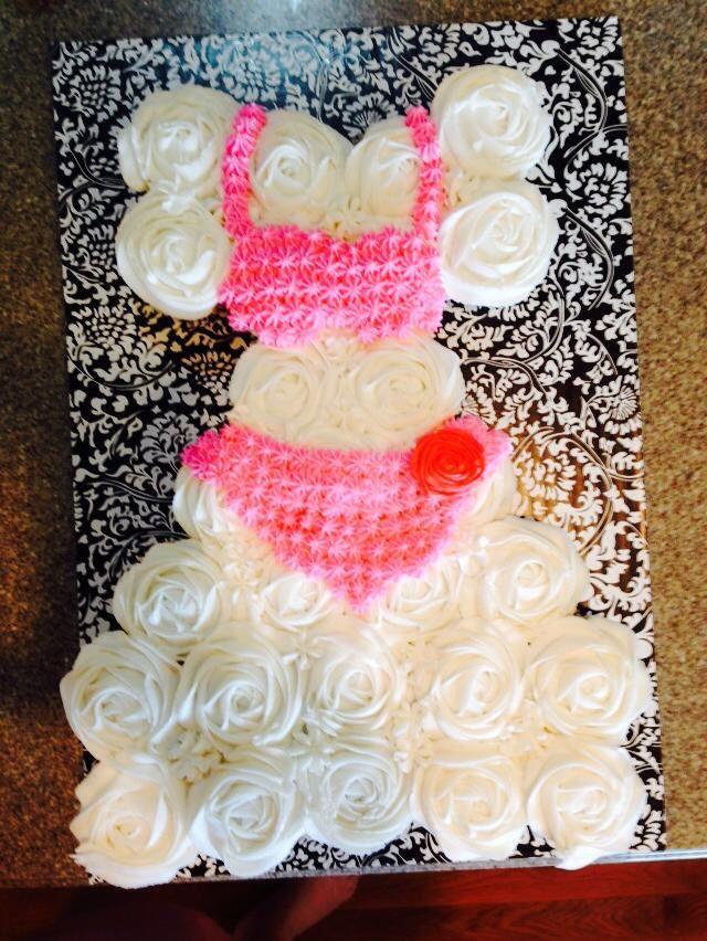 17 best images about bridal shower wedding dress cupcake cake on pinterest swim dress. Black Bedroom Furniture Sets. Home Design Ideas