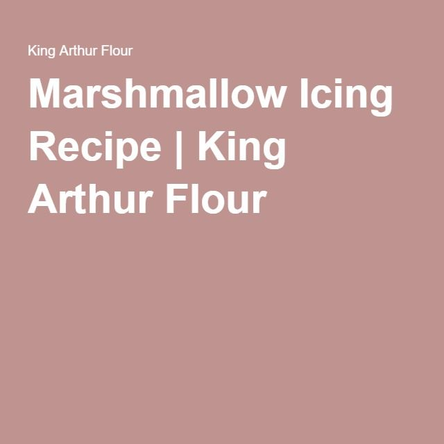 Marshmallow Icing Recipe   King Arthur Flour