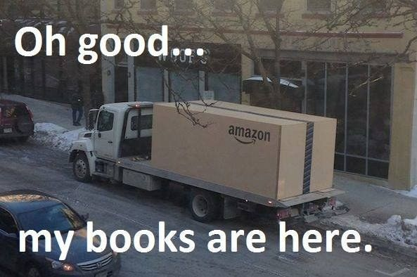 "When your books arrive and you realize you just dropped enough money to furnish your entire dorm room: | 23 Terrifying Moments That Will Make College Students Go ""Shit!"""