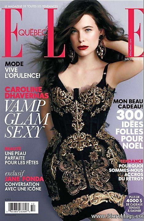Caroline Dhavernas  Elle Quebec Magazine Cover [Canada] (December 2012)  Highlight Description Caroline Dhavernas - Elle Quebec Magazine Cover (December 2012)
