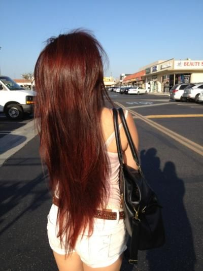 long brown hair with color