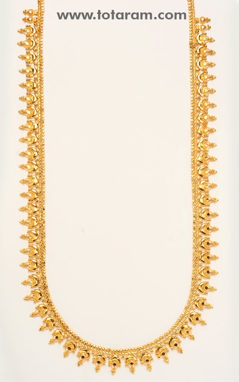 22K Gold Long Necklace