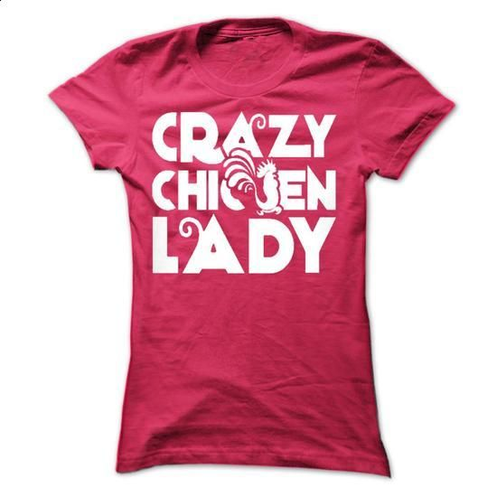Crazy Chicken Lady - #tees #crew neck sweatshirts. SIMILAR ITEMS => https://www.sunfrog.com/Pets/Crazy-Chicken-Lady-42530895-Ladies.html?60505