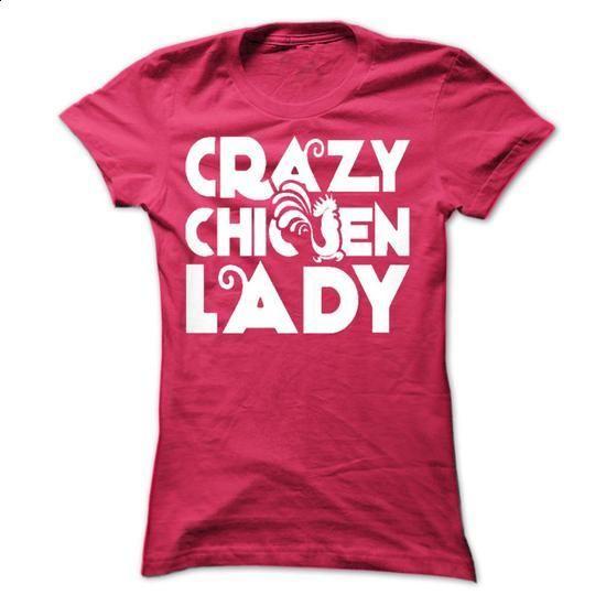 Crazy Chicken Lady - #tees #crew neck sweatshirts. SIMILAR ITEMS => https://www.sunfrog.com/Pets/Crazy-Chicken-Lady-42530895-Ladies.html?60505