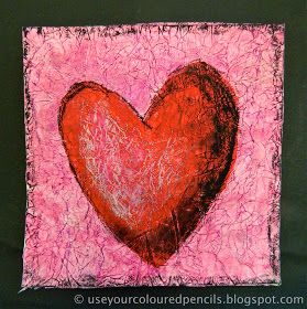 Use Your Coloured Pencils: Textured Heart Paintings