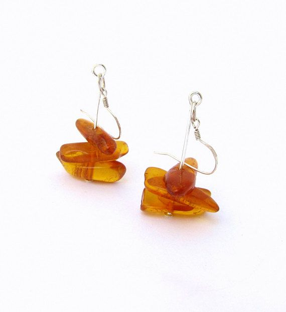 Amber earrings ,Earrings amber ,Amber jewelry earrings ,Amber jewelry ,Jewelry earrings ,Jewelry amber ,Vintage silver earrings ,Vintage silver  It is hand made dangle earrings with vintage amber beads. Baltic amber stones in this earrings is about 50 years old. It is a real Baltic Amber stones of golden honey color. Amber earrings are so delicate and chic! Gold color of amber pieces is so beautiful especially when they shine on the sun! Simple design of the women earrings will complement…