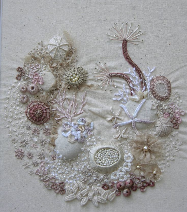 Sue Spargo Imperial Blooms design  Wool/cotton applique & embroidery      Imperial Blooms - embroidery detail             A postcard from ...