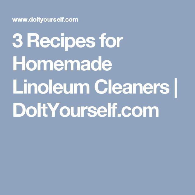 3 Recipes for Homemade Linoleum Cleaners | DoItYourself.com