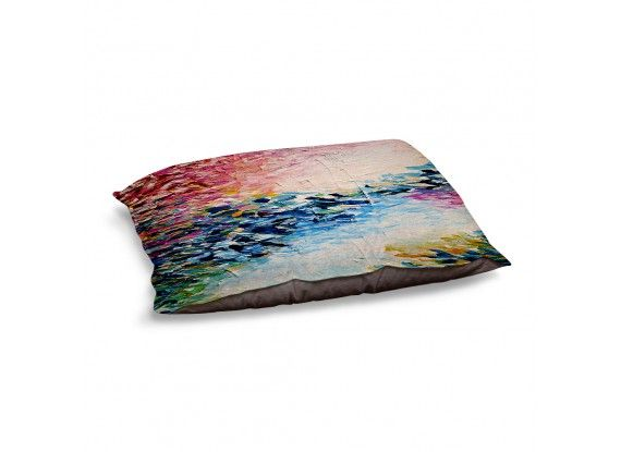 Ebi Emporium Dog and Pet Beds Artistic Decorative Designer Unique | Julia Di Sano's Above the Clouds, Fine Art Colorful Warm and Cozy #dogbed #petbed #pets #giftfordog #decor #JuliaDiSano #DianocheDesigns #colorful #clouds #paradise #dreaming #brushstrokes #pastel #abstract #art #fineart #painting #whimsical #decorative #modern #doglove #giftforpet