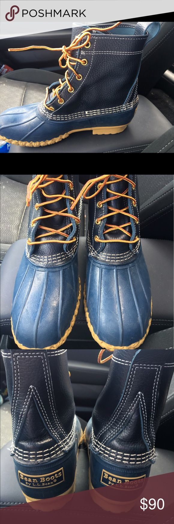 """Size 8 8"""" LL bean duck boot Great condition! Barely worn, blue duck boot. These are regular width. Will be marking with a small X on the inside so they cannot be returned for a full store credit. It's recommended on their website to buy a half size to a size smaller than your normal size because they run big. Shoes Winter & Rain Boots"""