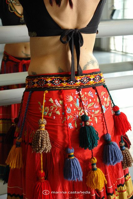 tribal bellydance belt (Just say yes to tassels!)