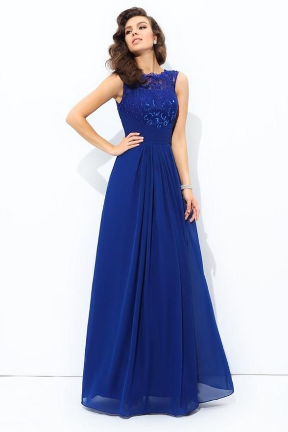 36aecd4db8099 Off the Shoulder A Line Lace Floor Length Royal Blue Prom Dresses Evening Formal  Dress LD1092