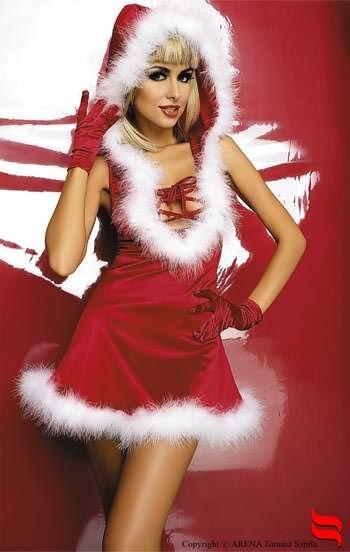 Robe sexy de Noël à capuche par Obsessive L-XL - Lingerie femme/Lingerie jupes robes - my-sexshop.fr®