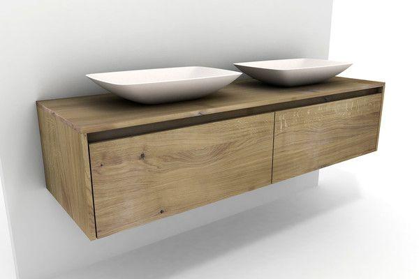 Waschtisch Mit Unterschrank Aus Eiche Mit Aufsatzbecken Waschtisch Holz Unterschrank Unterschrank Waschbecken Unterschrank