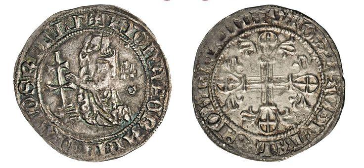 NumisBids: Numismatica Varesi s.a.s. Auction 67, Lot 490 : RODI JUAN FERNANDEZ DE HEREDIA (1376-1396) Gigliato. D/ Il Gran...