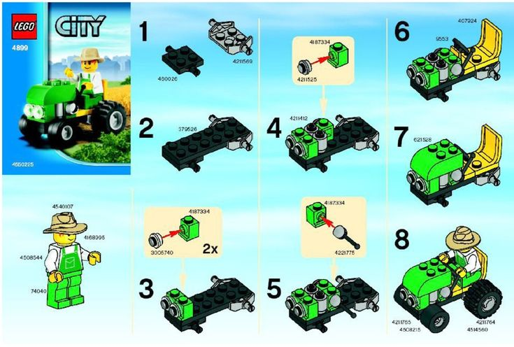 LEGO Tractor Instructions 4899, City