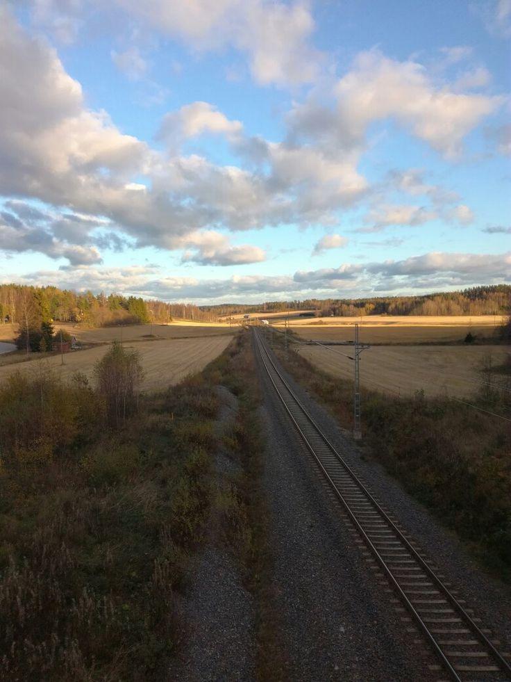 Finland, Hajala. Took a photo last year autumn. (2016)