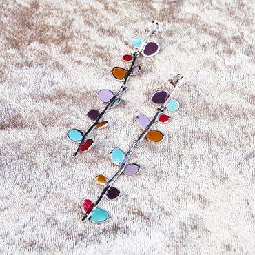 #joidart #earrings #sliver #holidaygift