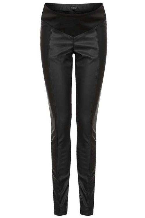 Topshop Maternity | Seam Front PU Trousers #topshop #maternity #trousers