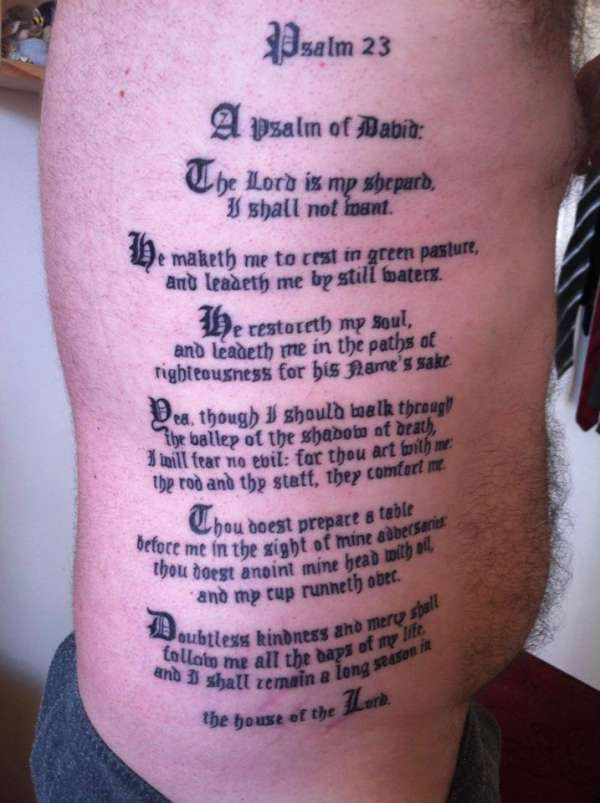 best 25 psalm 23 tattoo ideas on pinterest psalm 23 4 tattoo psalm 23 3 and christian tattoos. Black Bedroom Furniture Sets. Home Design Ideas