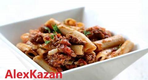 Итальянская паста с мясным фаршем.   4vkusa.ru