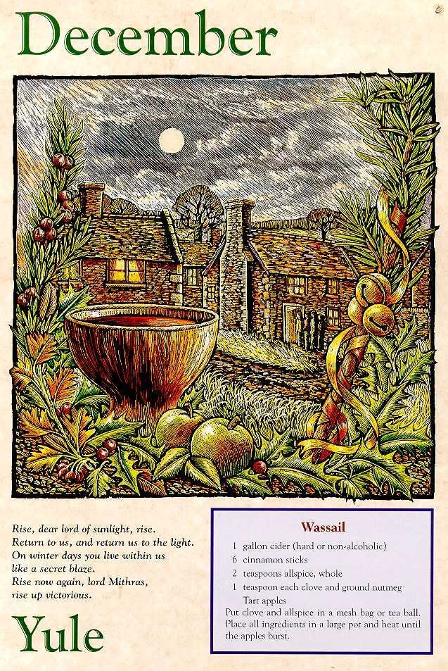 Yule and a Wassail recipe (yum)