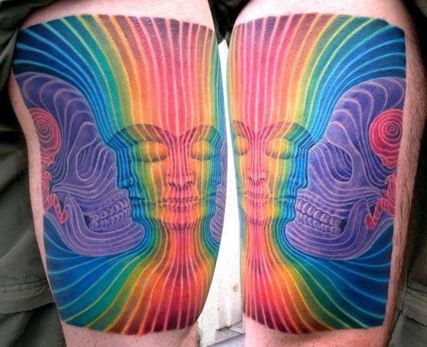 Alex Grey Vision Crystal Tattoo