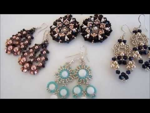 Beaded Pearl Earrings. Серьги из бисера и жемчуга - YouTube