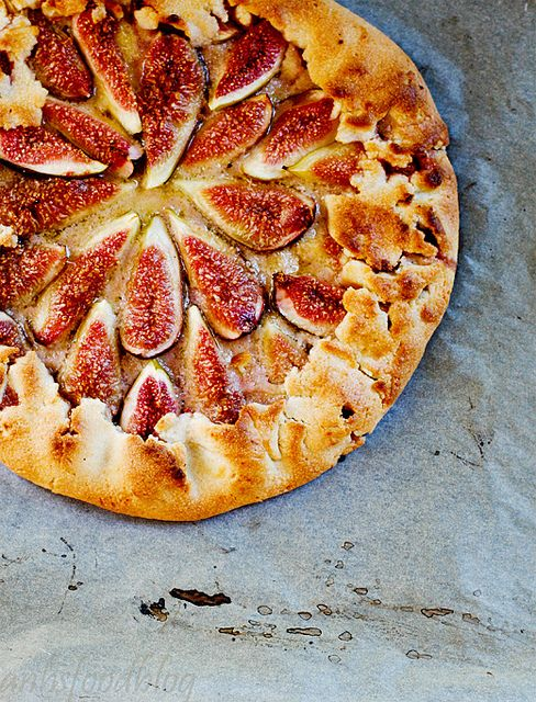 Fig Tart with Almond Crust. I think figs are the prettiest fruit. I have no idea how to eat them unless they are in a Fig Newton. I think this tart would be the perfect treat to learn how.