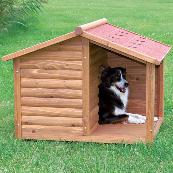 TRIXIE Rustic Dog House - Give your pet a place to escape the elements with the TRIXIE Rustic Dog House with covered porch. Solid pine construction and use of the finest materials...