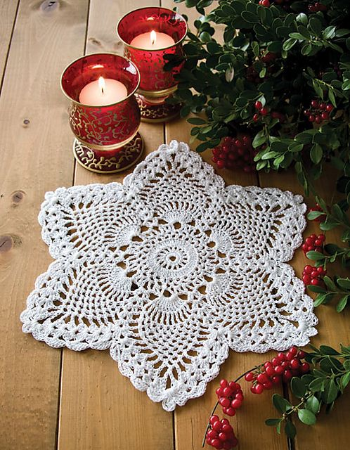 Hmmmm. Maybe I'll learn to like thread crochet by the time I finish the doily I'm currently working on... This is very pretty.
