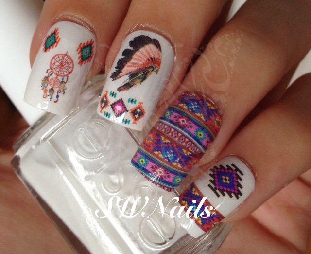 Visit www.oceansofbeauty.com for EZ Dip Gel Powder. It is so easy to DIY EZdip! No lamps needed, lasts 2-3 weeks! #aztec #aztecnails #aztecart #nails #manicure #ezdip #gelnails #nailart