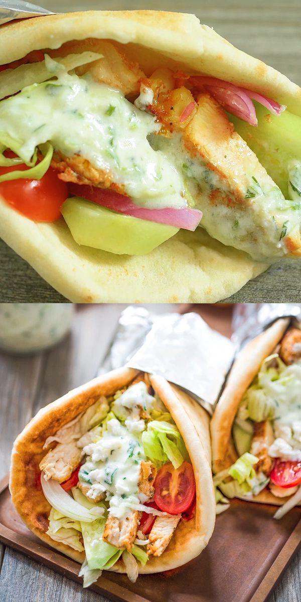 Chicken Gyro – ein leicht zuzubereitendes Sandwich, ideal zum Mittag- und Abendessen. Serv …