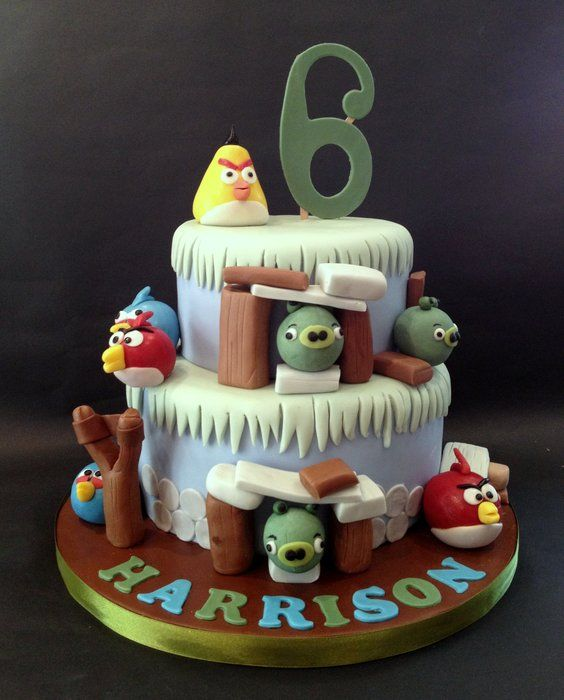 149 best images about angry birds on pinterest for Angry birds cake decoration