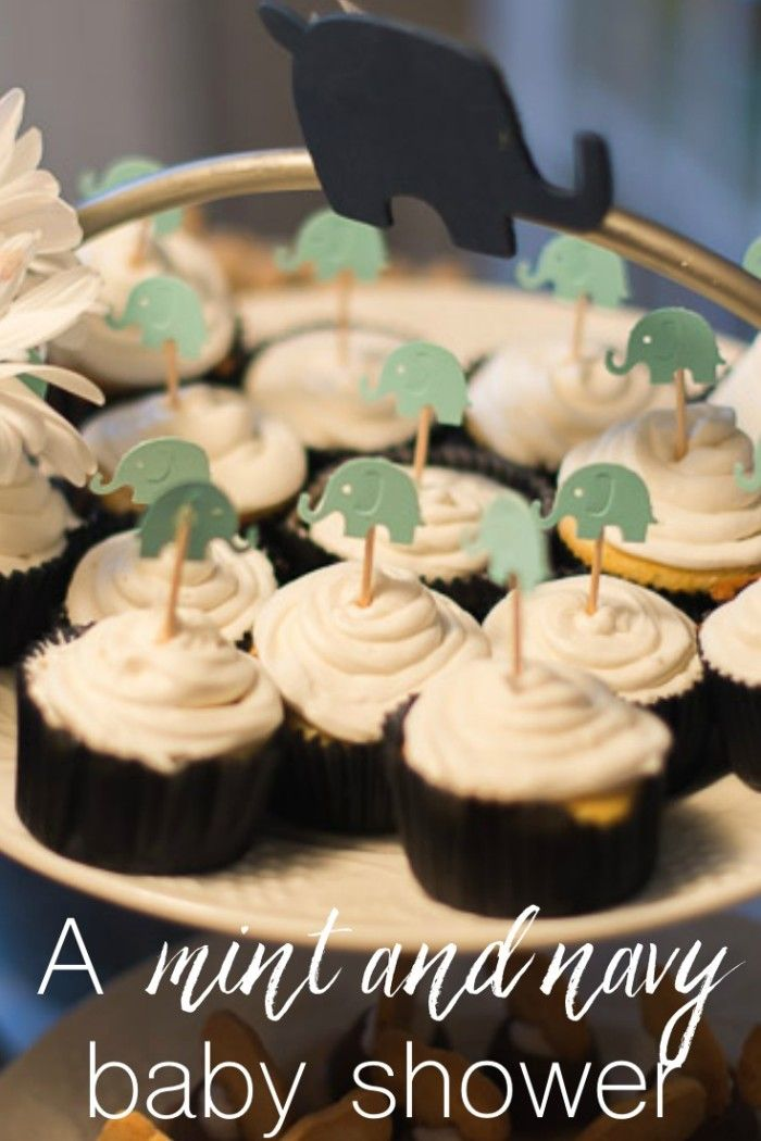 Adorably ideas for a mint and navy baby shower!