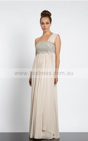 Sleeveless None One Shoulder Floor-length Chiffon Evening Dresses dt00146--Hodress