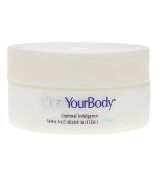 ObeyYourBody??s Shea Nut Body Butter is anon-greasy, easy-absorbed formula that moisturises the skin, leaving it silkyand smooth throughout the day. Having being created with raw Shea Nuts andmoisturising plant oils and Dead Sea minerals, this specialised formula isnatural and therefore non-harmful to your skin. This delicious-smelling bodybutter is enriched with Omega 3 and 6, feeding your skin and locking inmoisture which aids in pampering dry and damaged skin cells. Get smooth andhealthy…