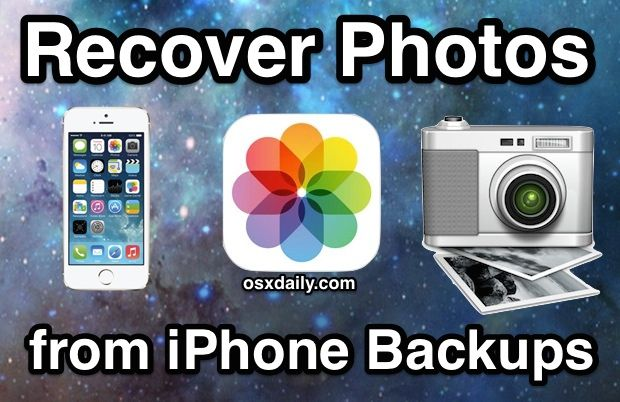 How to Recover Photos from an iPhone Backup