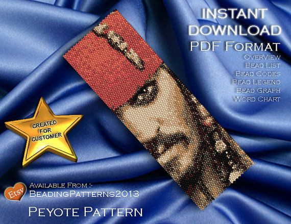 Peyote Pattern - Beading Patterns - Peyote Bracelet - Delica - Bead Pattern (Please ignore these words they are to just assist searching)