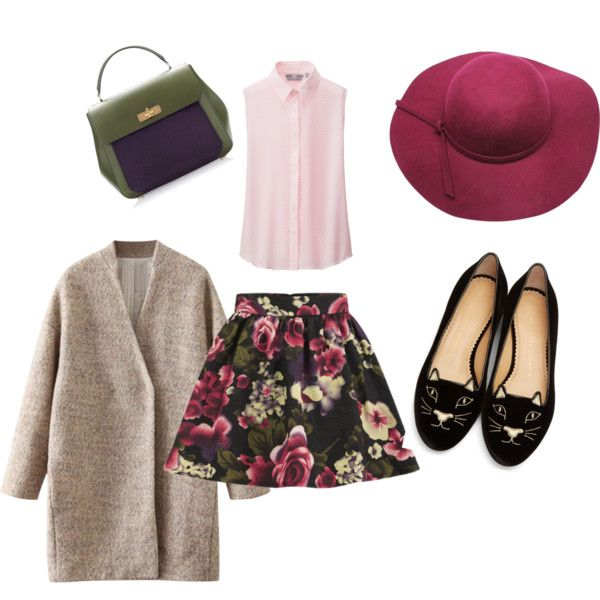10 by smail-2033 on Polyvore featuring мода, Uniqlo, Girls On Film, Charlotte Olympia and Bally