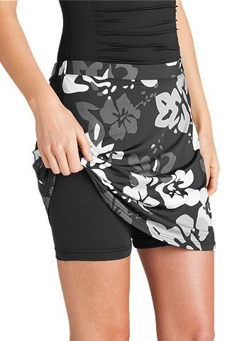 Adorable skirt with shorts for comfortable and modest swimwear!  from, Coolibar.com