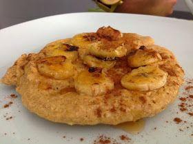 Receitas Gluten-Free : Panqueca de aveia com banana e canela