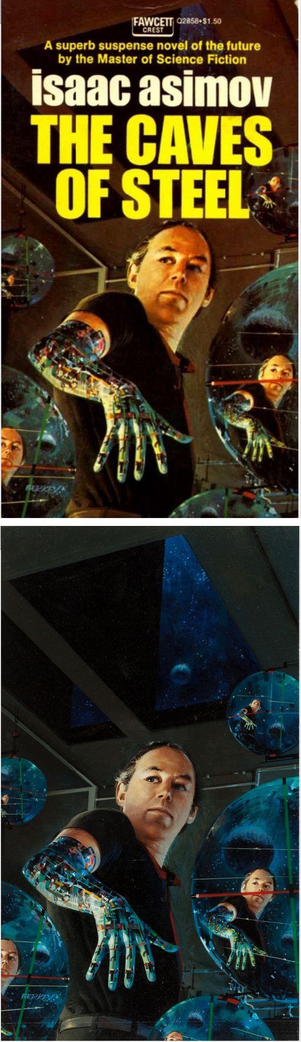 JOHN BERKEY - The Caves of Steel by Isaac Asimov - 1989 Fawcett Books - items by fineart.ha