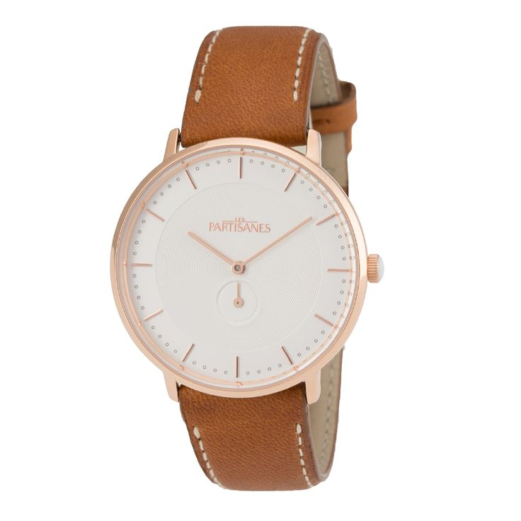 L'Amoureuse Or Rose Marron Caramel  #lespartisanes #womens # watches #madeinfrance #watchaddict #jewellery #love #summer #paris #spring #toutespartisanes