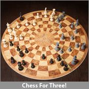 Patent-pending and inventive gameplay allows three players without compromising any of the old rules or strategies of chess. Get ready to break your brain as you have to battle against two chess masters at once!