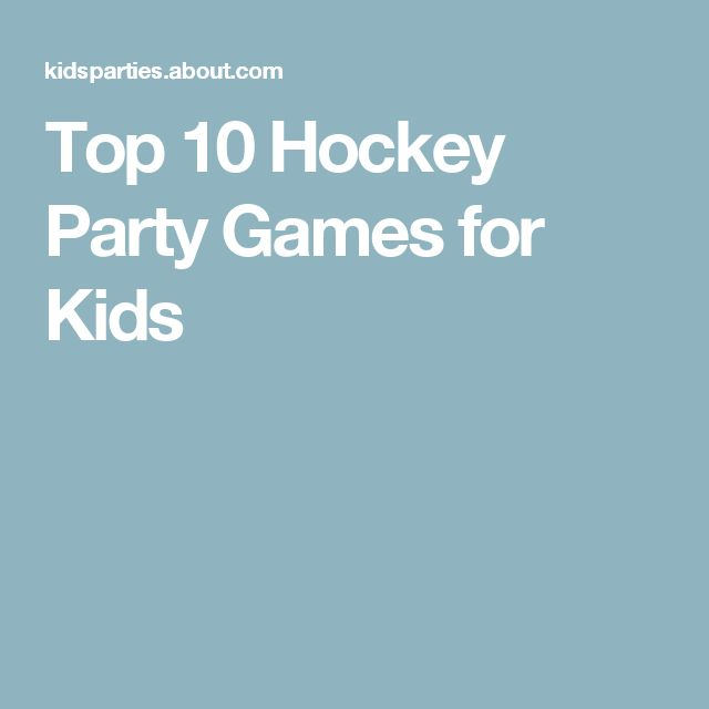 Top 10 Hockey Party Games for Kids