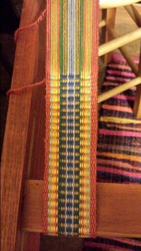 Inkle weaving in progress