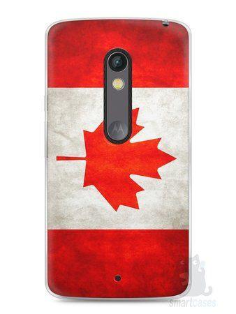 Capa Capinha Moto X Play Bandeira do Canadá