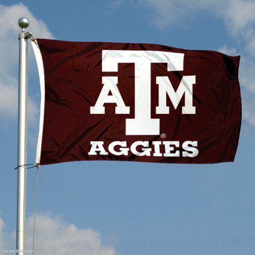 Texas A Aggies Double-Sided 3x5 Flag by College Flags and Banners Co.. $28.70. 2-Ply Nylon Material with Embroidered College Logos and Lettering. Officially Licensed by Texas A University. Identical Flag as flown over the College Football Hall of Fame. 3'x5' in Size with Sturdy Metal Grommets and Quad-Stitched Flyends. Double-Sided and Readable Correctly on Both Sides. This Texas A Aggies Double-Sided 3x5 Flag is made of 2-ply nylon, measures 3x5 feet in size, has...